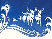 Santa Claus,Reindeer,Sleigh,Christmas,Silhouette,Deer,Snow,Vector,Animal,Backgrounds,Running,Winter,Blue,Humor,Cartoon,Antler,Gift,Snowflake,Bright,Book Cover,Senior Adult,Ilustration,Cheerful,Backdrop,Hat,Decoration,Event,Celebration Event,Arrival,Year,Light - Natural Phenomenon,Color Image,Shape,Ornate,Celebration,Surprise,Vector Cartoons,Vector Backgrounds,Holidays And Celebrations,Illustrations And Vector Art,Christmas
