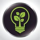 Ilustration,Light Bulb,Ideas,Label,Vector,Concepts,Environmental Conservation,Environment,Leaf,Protection,Green Color