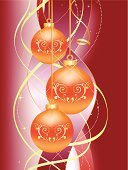 Holidays And Celebrations,Holidays And Celebrations,Illustrations And Vector Art,Christmas Ornament,Christmas Decoration,Red Background