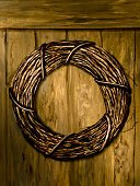 Wreath,Wood - Material,wood fence,Wood Grain,Vertical,Textured,Painted Image,Paintings,Rough