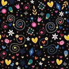 Wallpaper,Child,Cheerful,Group of Objects,Pattern,Seamless,Set,Retro Revival,Paper,Ornate,Characters,Nature,Design,Spotted,Love,Heart Shape,Gift,Funky,Fun,Wallpaper Pattern,Ilustration,Cartoon,Fabric Swatch,Vector,Star Shape,Art,1940-1980 Retro-Styled Imagery,Decoration,Effortless,Modern,Party - Social Event,Energy,Floral Pattern,Flower,Textile,Star - Space,Leaf,Wrapping Paper,Happiness,Abstract,Backgrounds,Harmony,Holiday,Swatch,Joy,Orchestra,Black Color