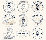 Barber,Barber Shop,Symbol,Shaving,Vector,Beard,Razor,Sign,Ilustration,Pole,Personal Accessory,Mustache,Label,Grooming,Badge,Insignia,Men,Elegance,Design Element,Collection,Business