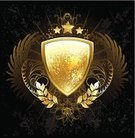 blazon,Honor,Ideas,Placard,Protective Workwear,Metal,Black Background,Wing,Pattern,Branch,Symbol,Bright,Nobility,Gothic Style,Vector,Insignia,Painted Image,Color Gradient,Gold Leaf,armored,Safety,Feather,Angel,Gold Colored,Gold,Star Shape,Heraldic Symbol,Golden Shield,Shield,Coat Of Arms,Suit of Armor,Scratched,Contour Drawing,Luxury,Romance,Achievement,Shiny,Textured,Reliability,Computer Graphic