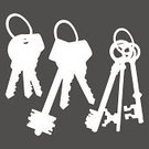 Outline,bunch of keys,key-ring,Clip Art,Computer Graphic,Vector,Image,Ilustration,Apartment Key