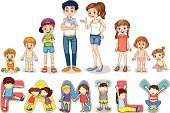 Vector,Mother,Family,Father,Baby,daugter,Cute,Sister,Alphabet,Little Boys,Love,Men,Computer Graphic,Single Object,Clip Art,White Background,Collection,Series,Women