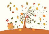 Hedgehog,Autumn,Animal,Childhood,Tree,Forest,Drawing - Art Product,Preschool,Cartoon,Cute,Falling,Wind,Fairy Tale,Woodland,Leaf,Fun,Small,Vector,Walking,Young Animal,Oak Tree,Season,Decoration,Stuck,Characters,Animals In The Wild,Day,Playful,Computer Graphic,Humor,Trapped,Wildlife,Ilustration,Clip Art,Cold - Termperature,Spiked,Nature,Design,Bristle,Illustrations And Vector Art,Nature,Fall,Vector Cartoons,Animals And Pets,Baby Animals,Sharp,Cub,White,Uncultivated,Brown,Isolated