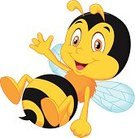Bee,Happiness,Mascot,Cheerful,Wing,Fun,Humor,Ilustration,Cartoon,Smiling,Waving,Single Object,Flying,Animal Hand,Animal,Animals In The Wild,Insect,Yellow,Characters,Black Color