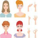 People,Clothing,Guidance,Lifestyles,Human Body Part,Eyeglasses,Human Hair,Hairstyle,Human Hand,Smiling,Material,Greeting,Beauty,Adult,Illustration,Group Of People,Women,Portrait,Vector,Vehicle Part,Fashion,Facial Expression,Adults Only,Beautiful Woman
