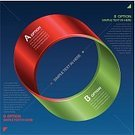 Mobius Strip,Infographic,Number 2,Symmetry,Adding Machine Tape,Ribbon,Isolated,Diagram,Ilustration,Eternity,Curve,Green Color,Design Element,Vector,Modern,Red,Computer Graphic,Arrow Symbol,Round Shape,Simplicity,Number,Organization,Choice,Isolated On Blue,Abstract,Label,Part Of,Plan,Blue,Copy Space,Orbiting,Teamwork,Circle,Connection