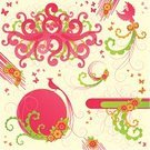Pink Color,Bubble,Sign,Butterfly - Insect,Bird,Flower,Swirl,Circle,Backgrounds,Vector,Design,Abstract,Fantasy,Funky,Frame,Shape,Color Image,Floral Pattern,Cute,Design Element,Creativity,Elegance,Beauty,Ilustration,Curve,Romance,Ornate,Cool,Leaf,Scroll Shape,Springtime,Yellow,Decoration,Flowers,Vector Florals,Arts And Entertainment,Arts Abstract,Illustrations And Vector Art,Curled Up,Summer,foliagé,Nature