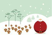 Christmas,Santa Claus,Mouse,Assistance,Landscape,Humor,Snow,Small,Team,Winter,Mountain,Black Color,Mountain Range,Tree,White,Cute,Teamwork,Backgrounds,Sphere,Frost,Large,Red,Overweight,Three Animals,Standing Out From The Crowd,Too Big,Snowflake,Frozen,Oversized,January,Cold - Termperature,Teamwork,Holidays And Celebrations,Christmas,Illustrations And Vector Art,Concepts And Ideas,December,Contrasts