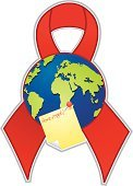 AIDS,AIDS Awareness Ribbon,HIV,Earth,Ribbon,World Map,Charity and Relief Work,Adhesive Note,Memories,Healthcare And Medicine,Label,Thumbtack,Beauty And Health,Illustrations And Vector Art,Health Symbols/Metaphors,Vector Icons,Awareness Ribbons,Symbol,Reminder,Peeled,Message,Social Awareness Symbol,Design Element
