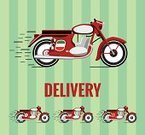 Motorcycle,Old-fashioned,Retro Revival,France,Japan,Italy,Transportation,Food,China - East Asia,Speed,Elegance,Cool,vector drawing,1940-1980 Retro-Styled Imagery,Ilustration,Drawing - Art Product,Design