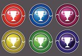 Award,Trophy,Computer Graphic,Ilustration,Shiny,Control,Medal,Cup,Success,Metallic,Championship,Computer Icon,Digitally Generated Image,First Place,Winning,Multimedia,Purple,Vector,Symbol,Design,Part Of,Curve,Isolated,Shape,Circle,Green Color,Blue,Red,Multi Colored,Interface Icons,Yellow
