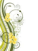 Single Flower,Backgrounds,Floral Pattern,Nature,Season,Summer,Vector,Leaf,Springtime,Plant,Abstract,Backdrop,Multi Colored,Creativity,Ilustration