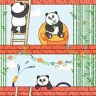 Petting Zoo,Cute,Animal Themes,Animal,Cartoon,Pattern,Nature,Zoo,Panda