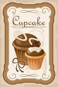 Cooking,Vector,Label,Pastry Crust,Anniversary,Ilustration,Celebration,Symbol,Birthday,Menu,Old-fashioned,Cake,Cupcake,Food,Baked,Dessert,Bakery,Beige