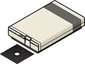 Obsolete,Museum,PC,Retro Revival,Old-fashioned,Technology,Isometric,Home Interior,8-bit,5 25,Antique,Floppy Disk,History,Education,Three Dimensional