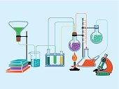 Chemistry,Research,Beaker,Education,Equipment,hypothesis,Book Cover,Test Results,Water,Scientific Experiment,Vector,Ilustration,Science,Ornate,Flask,Banner,Liquid,Bunsen Burner,template,Microscope,Medical Test,Physics,Glass - Material,Laboratory