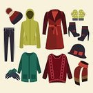 Clothing,Winter,Coat,Jacket,Computer,Shoe,Season,Computer Graphic,Christmas,Year,Knitting,Backgrounds,Garment,Personal Accessory,Women,Decoration,Boutique,Wool,Vector,Ilustration,Elegance,Hat,Fashion,Collection,Group of Objects