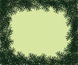 Christmas,Branch,Frame,Evergreen Tree,Tree,Green Color,Spruce Tree,Silhouette,Backgrounds,Vector,Christmas,Vector Backgrounds,Nature Backgrounds,Nature,Design Element,Illustrations And Vector Art,Holidays And Celebrations
