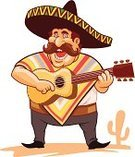 Desert,Sand,Mexico,Singing,Mexican Ethnicity,Mexican Culture,Humor,Cartoon,Human Face,Male,Rural Scene,Guitar,Ilustration,Men,Latin American Culture,Ethnicity,The Americas,Isolated,Blanket,Decoration,Cactus,Fun,Entertainment,Sombrero,Smiling,Restaurant,Overweight,Cultures,Heat - Temperature,Party - Social Event,Cowboy,Vector,Latin American and Hispanic Ethnicity,Poncho,Costume,Art