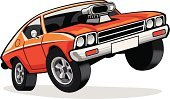 Vector,Wheel,Heat - Temperature,Sports Race,Car,Motorsport,Power,Model,Luxury,Land Vehicle,Street,Ilustration,Engine,Toy,Retro Revival,Sport,Driving,Transportation,Isolated,American Culture,Design,Success,At The Edge Of,Old-fashioned,Concepts,Orange Color,Chrome,Speed,Alloy,USA,Dragging,Cartoon,Competition