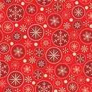 Red Background,Snowflake,Pattern,Christmas,Retro Revival,Red,Old-fashioned,Ilustration,Vector,Abstract,Ornate,Wrapping Paper,Holiday,New Year,seamless pattern,Backgrounds,Winter,Wallpaper Pattern,Season