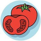 Tomato,Vegetable,Symbol,Icon Set,Ilustration,Groceries,Food,Red,Vector