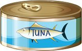 Zoology,Animal,Packaging,Routine,Backgrounds,Cylinder,Computer Graphic,Image,Label,Labeling,Airtight,Bottle Opener,Circle,Can,Canning,Food,Fisherman,Preserved,Vector