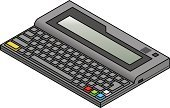 Individuality,PC,Retro Revival,Technology,Old-fashioned,Obsolete,Isometric,Antique,8-bit,Computer,Education,History,Three Dimensional