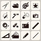 Icon Set,Studio,Camera - Photographic Equipment,Design,Design Professional,Pencil,Felt Tip Pen,Photography,Single Object,Brochure,Web Page,Computer,Mobile Phone,Coffee - Drink,Digital Tablet,Palette,Painted Image,Ideas,Colors,Computer Graphic,Ilustration,Abstract,Typescript,Symbol,Black Color,Drawing - Art Product,Set,Ruler,Creativity,Ink,Photograph,File,Technology,Design Element,Connection,user,Organization,Camera Flash,Vector,Business,Internet,Print,Isolated,Paint,Paintbrush,Art,Collection