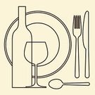 Plate,Silverware,Glass,Eating,Fork,Glass - Material,Dinner,Symbol,Commercial Kitchen,Domestic Kitchen,Drink,Man Made Object,Old-fashioned,Liquid,Dining,Enjoyment,Bar - Drink Establishment,Wine,Food,Eat,Crockery,Menu,Breakfast,Snack,Computer Graphic,Lunch,Outline,Set,Vector,Vine,Winery,Wine Bottle,Alcohol,Gourmet,template,flatware,Backdrop,Ilustration,Meal,Wineglass,Table Knife,Spoon,Equipment,Single Line,Diagram,Lunch Break,Restaurant
