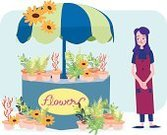 People,Happiness,Bouquet,Business,Retail,Workshop,Cheerful,Occupation,Formal Garden,Sales Occupation,Smiling,Working,Store,Market,Flower,Small,Owner,One Person,Beauty,Selling,Adult,Mature Adult,Florist,Illustration,Women,Mature Women,One Mature Woman Only,Only Women,One Woman Only,Vector,Single Flower,Adults Only,Beautiful People,Beautiful Woman,Saleswoman