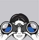 Binoculars,Looking,Human Face,Women,Close-up,Reflection,Watching,Searching,Surveillance,Single Object,Symbol,Success,Exploration,Direction,Adventure,Discovery,Equipment,Holding,Shiny,Human Lips