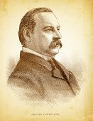 History,Vertical,North America,USA,Old-fashioned,President,Engraving,Ornate,Illustration,Engraved Image,Antique,Vignette,Photography,Grover Cleveland