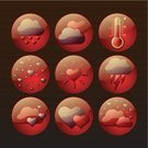 Lightning,Symbol,Vector,Abstract,Cute,Weather,Day,Shiny,Ilustration,Red,Love