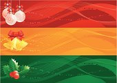 Christmas,Banner,Holly,Holiday,Backgrounds,Green Color,Winter,Red,Abstract,Ribbon,December,Set,Handbell,Yellow,Group of Objects,Christmas Decoration,Bell,January,Vector,Hanging,Clip Art,Christmas Ornament,Leaf,Season,Adorning,Illustrations And Vector Art,Ilustration,Christmas,Decoration,Holidays And Celebrations,Holiday Symbols,Ornate,Cultures,Celebration,Bundle,Bow,Series,No People