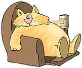 Domestic Cat,Laziness,Couch Potato,Chair,Reclining Chair,Ilustration,Animals And Pets,Drinks,Cats,Food And Drink,Whisker,Tail,Feline,Drink