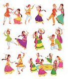 Hinduism,India,Dancing,Garba,Dandiya,Cultures,Lifestyles,selectable,Celebration,Folk Music,Gujarat,Men,Vector,Little Boys,Clothing,Stick - Plant Part,editable,Pair,People,Navratri,Diwali,Ilustration,Event,Ethnicity,Women