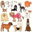 Animal,Paw,Computer Graphic,Friendship,Mascot,Purebred Dog,Canine,Backgrounds,Terrier,Caricature,Labrador Retriever,Chinese Crested Dog,West Highland White Terrier,Shar-Pei,Sign,Symbol,Collection,Cute,Jack Russell Terrier,Pug,Yorkshire Terrier,Bloodhound,Pomeranian,Pembroke Welsh Corgi,Nature,Sitting,Vector,Ilustration,Dog,Puppy,Pets,Dachshund