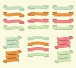 Multi Colored,Swirl,Curled Up,Old-fashioned,Pastel Colored,Isolated,Retro Revival,Variation,Vector,Blank,Textile,Label,Paper,Collection,Design Element,Icon Set,Angle,Clip Art,Folded,Empty,Decoration,Insignia,Banner,Symbol,Scroll Shape,Scroll,Ribbon,Set