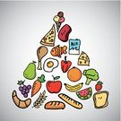 Lunch,Eggs,Fish,Food,Vector,Meat,Collection,Dinner,Healthy Lifestyle,Icon Set,Chicken - Bird,Pizza,Design,Banana,Backgrounds,Cauliflower,Orange - Fruit,Silverware,Carrot,Grape,Cheese,Fork,Apple - Fruit,Triangle,Fruit,Berry Fruit,Ilustration,Set,Lifestyles,Symbol,Cooking,Dieting,Styles,Bread,Milk Bottle,Ice Cream,Pattern,Freshness,Kitchen Knife,Menu,Food And Drink,Wheat,Pyramid,Watermelon,Silhouette,Pear,Vegetable