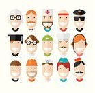 Flat,Design,Computer Graphic,Occupation,Doctor,Retro Revival,Customer Service Representative,Avatar,Construction Worker,Ilustration,Student,Happiness,Police Force,Sportsman,Computer Icon,Chef,Coach,Door Attendant,Women,Messenger,Human Head,Waiter,Set,Human Face,Delivery Person,Teenager,Smiling,Air Stewardess,Eyeglasses,Operator,Mechanic,Instructor,Sailor,Lawyer,Manual Worker,Vector,Male,Men,Paramedic,Teacher,Profile View,Judge - Law,Characters,People,Porter