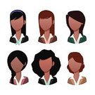Human Hair,Vector,Women,Avatar,Ethnic,India,Bangladesh,Dark,Isolated,Ilustration,Office Interior,Empty,Professional Occupation,Blank,People,Hairstyle,Set,Hinduism,Cultures,Brown,Afro,Black Color,Human Skin,Indian Culture,saree,Asia,Islam,USA,African Descent,Human Face,Business,No,Businesswoman,Characters,Human Head,Portrait,Exoticism