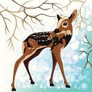 Fawn,Cute,Animal,Woodland,Christmas,Backgrounds,Deer,Clip Art,Blue,Wildlife,Elk,Image,Blizzard,Design Element,Art,Vector,Fairy Tale,White,Forest,Branch,New Year's Day,Puppy,Ilustration,Cartoon,Small,Animals In The Wild,Winter,Snow,Young Animal,Calf,Cub,New Year,Computer Graphic
