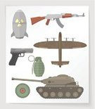 Nuclear Bomb,Clip Art,Bomb,Gun,Group of Objects,Weapon,Handgun,Hand Grenade,Bomber Plane,Set,Armored Tank,Hydrogen Bomb,Airplane,Multi Colored,Land Mine,Design Element,Ilustration,Modern,Vector,Computer Graphic,Rifle,AK-47