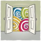 Backgrounds,Drawing - Art Product,Spiral,open door,Imagination,Door,Opening,Open,Ilustration,Mental Illness,Light - Natural Phenomenon,Fantasy,Wall,Arranging,Domestic Room,Vector,Leaving,Space,Accessibility,Inside Of,Freedom,Design,Swirl,Psychedelic,Entrance,Indoors,Gate,externally,Deep,Concepts