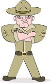 Sergeant,Armed Forces,Army,Cartoon,Military,Marines,Cruel,Cheap,Anger,Displeased,Furious,Rank,Adults,Vector Cartoons,Lifestyle,Illustrations And Vector Art,People