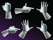 Robot,Robotic Arm,Human Hand,Fist,Metal,Pointing,Human Finger,Chrome,Knuckle,Pushing,Facial Expression,Technology,Gesturing,Human Arm,Futuristic,Silver Colored,Gripping,Holding,Reaching,Silver - Metal,Power,Action,Reflection,Message,Shiny,Vector Icons,Illustrations And Vector Art,Actions,Technology